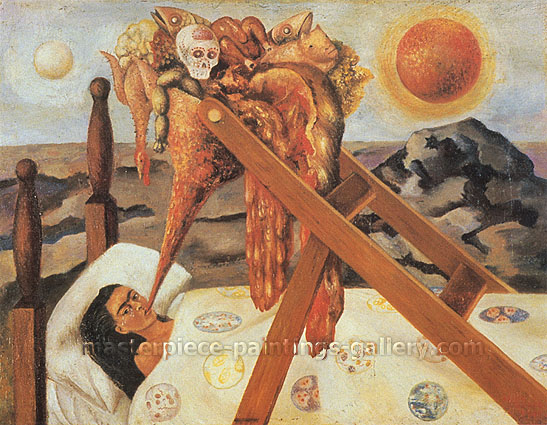 Frida Kahlo, Without Hope, 1945, oil on canvas, 30.9 x 23.9 in. / 78.6 x 60.6 cm, US$280