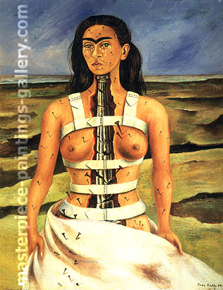 Frida Kahlo, The Broken Column, 1944, oil on canvas, 32 x 24.6 in / 81.3 x 62.4 cm, US$370