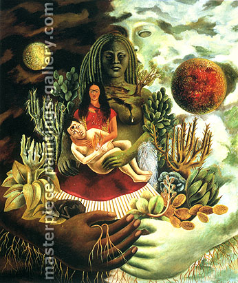Frida Kahlo, Love Embrace of the Universe,�1949, oil on canvas, 32 x 27.7 in / 81.3 x 70.3 cm, US$340