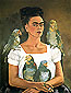 Frida Kahlo, Me and My Parrots, 1941, oil on canvas, 31.3 x 24 in / 79.6 x 61 cm, US$330