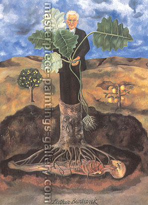Frida Kahlo, Portrait of Luther Burbank, 1930, oil on canvas, 33.7 x 24 in / 85.6 x 61 cm, US$340