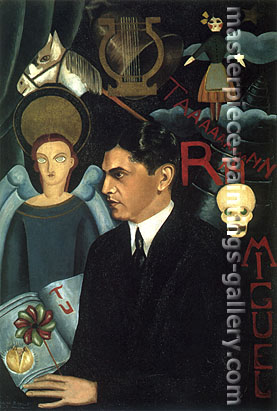 Frida Kahlo, Portrait of Miguel N Lira, 1927, oil on canvas, 40 x 27.2 in / 101.6 x 69.1 cm, US$330