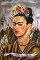 Frida Kahlo, Self-portrait dedicated to Dr. Eolesser, 1940, oil on canvas, 24.0 x 16.1 in / 61.0 x 41.0 cm, US$280