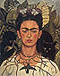 Frida Kahlo, Self-portrait with Necklace of Thorns, 1940, oil on canvas, 24 x 19.5 in / 63.5 x 49.5 cm, US$290