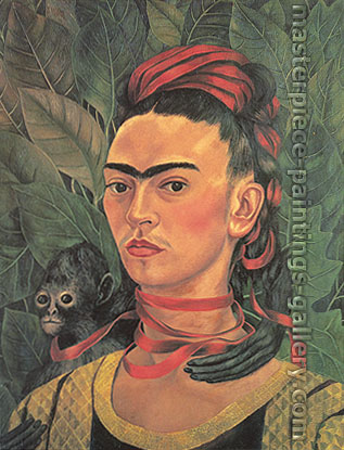 Frida Kahlo, Self-portrait with Monkey, 1940, oil on canvas, 24 x 18.9 in / 61 x 48 cm, US$280