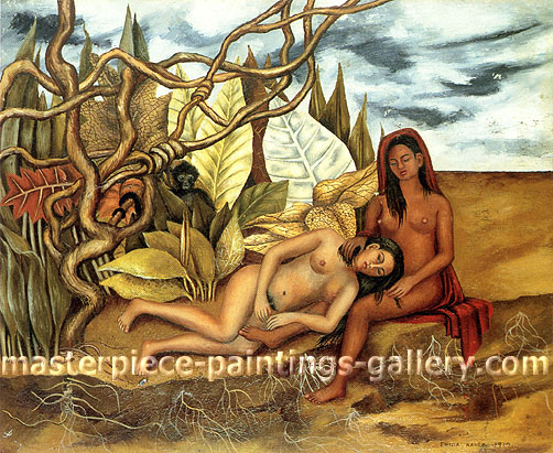 Frida Kahlo, Two Nudes in the Forest | The Earth Itself | My Nurse and I, 1939, oil on canvas, 26.2 x 32 in / 66.6 x 81.3 cm, US$265