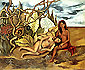 Frida Kahlo, Two Nudes in the Forest or The Earth Itself or My Nurse and I, 1939, oil on canvas, 26.2 x 32 in / 66.6 x 81.3 cm, US$265