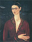 Frida Kahlo, Self-portrait in a Velvet Dress, 1926, oil on canvas, 30.8 x 24 in. / 78 x 61 cm, US$330