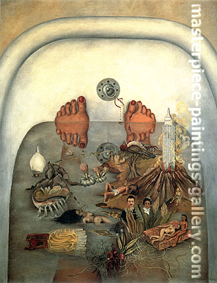 Frida Kahlo, What I Saw in the Water | What the Water Gave Me, oil on canvas, 36 x 27.9 in / 91.4 x 70.9 cm, US$270