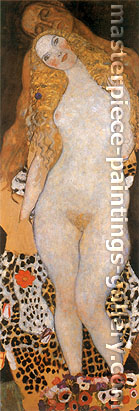 Gustav Klimt, Adam and Eve (unfinished), 1917, oil on canvas, 68.1 x 23.6 in. / 173 x 60 cm, US$865
