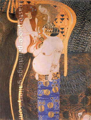 Gustav Klimt, Beethoven Frieze (center), 1902, oil on canvas, 25.9 x 34.3 in. / 65.8 x 87 cm, US$560