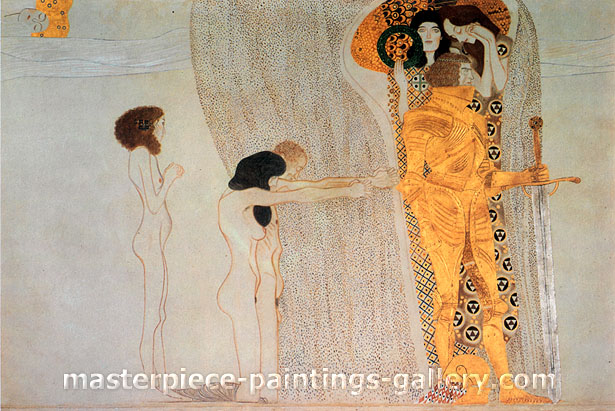 Gustav Klimt, Beethoven Frieze, 1902, oil on canvas, 31.5 x 20.6 in. / 80 x 53.2 cm, US$450