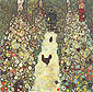 Gustav Klimt, Garden Path with Chickens | Gartenweg mit Huhnern, 1916, oil on canvas, 43.3 x 43.3 in. / 110 x 110 cm, US$610