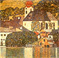 Gustav Klimt,Church at Unterach on Lake Atter, 1916, oil on canvas, 43.3 x 43.3 in. / 110 x 110 cm, US$610