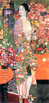 Gustav Klimt, The Dancer | Die Tanzerin, 1916, oil on canvas, 70.9 x 35.4 in. / 180 x 90 cm, US$990