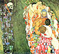 Gustav Klimt, Death and Life | Tod und Leben, 1916, oil on canvas, 35 x 39 in. / 89 x 99 cm, US$550