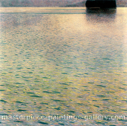 Gustav Klimt, Island in Lake Atter | Insel im Attersee, 1901, oil on canvas, 39.4 x 39.4 in. / 100 x 100 cm, US$550