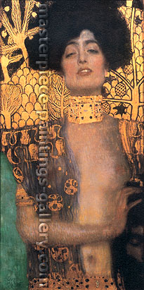 Gustav Klimt, Judith I, 1901, oil on canvas, 33.1 x 16.5 in. / 84 x 42 cm, US$400