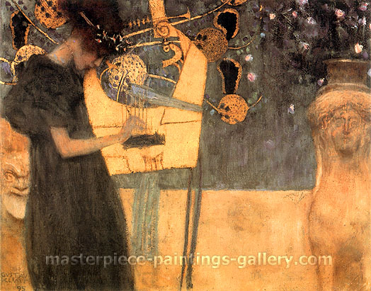 Gustav Klimt, Music I | Die Musik I, 1895, oil on canvas, 14.6 x 17.7 in. / 37 x 45 cm, US$400