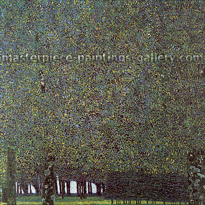 Gustav Klimt, The Park | Der Park, 1910, oil on canvas, 43.3 x 43.3 in. / 110 x 110 cm, US$610
