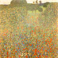Gustav klimt, Poppy Field | Mohnwiese, 1907, oil on canvas, 43.3 x 43.3 in. / 110 x 110 cm, US$610