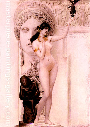 Gustav Klimt, Allegory of Sculpture | Allegorie der Skulptur, 1889, oil on canvas, 17.3 x 11.8 in. / 44 x 30 cm, US$350