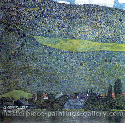 Gustav Klimt, Unterach on Lake Atter | Unterach am Attersee, 1915, oil on canvas, 43.3 x 43.3 in. / 110 x 110 cm, US$610
