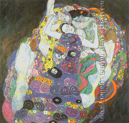 Gustav Klimt, The Virgin, 1913, oil on canvas, 31.5 x 29.9 in. / 80 x 76 cm, US$440