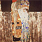 Gustav Klimt, The Three Ages of Woman, oil on canvas, 70.9 x 70.9 in. / 180 x 180 cm, US$1,000