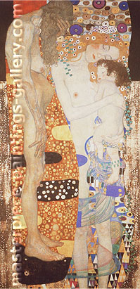 Gustav Klimt, The Three Ages of Woman (detail), oil on canvas, 70.9 x 34.3 in. / 180 x 87.2 cm, US$900