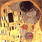 Gustav Klimt, The Kiss (Detail 2), 1907, oil on canvas, 36 x 36 in. / 91.4 x 91.4 cm, US$480