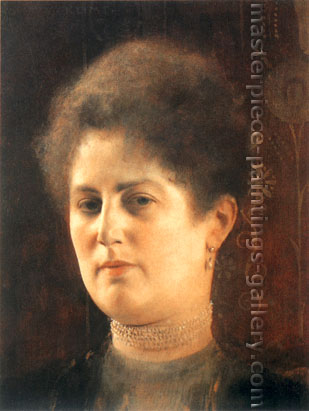 Gustav Klimt, Portrait of Lady (Frau Heymann?), 1894, oil on canvas,23 x 30.8 in. / 58.5 x 78.3 cm, US$300