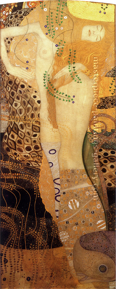 Gustav Klimt, Water Serpents I, oil on canvas, 55.1 x 22.4 in. / 140 x 57 cm, US$700