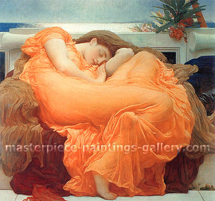 Lord Frederic Leighton, Flaming June, 1895, oil on canvas, 32 x 32 in. / 81.3 x 81.3 cm, US$445