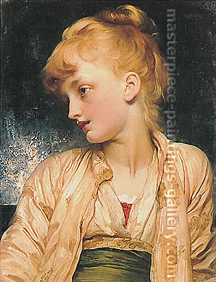 Lord Frederic Leighton, Gulnihal, 1886, oil on canvas, 26.7 x 20.7 in. / 67.8 x 52.6 cm, US$340