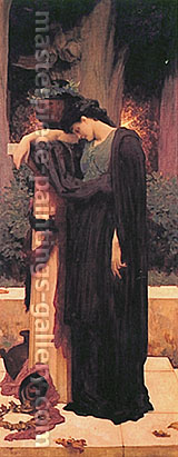 Lord Frederic Leighton, Lachrymae, 1895, oil on canvas, 62 x 24.8 in. / 157.5 x 63 cm, US$750