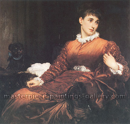 Lord Frederic Leighton, Mrs Henry Evans Gordon, 1875, oil on canvas, 36 x 37 in. / 91.5 x 94 cm, US$470