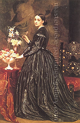 Lord Frederic Leighton, Mrs James Guthrie, 1866, oil on canvas, 62.2 x 40.9 in. / 158 x 103.9 cm, US$790