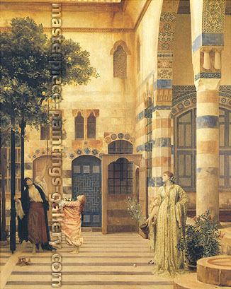 Lord Frederic Leighton, Old Damascus: Jews's Quarter, 1873-74, oil on canvas, 51 x 41 in. / 129.5 x 104.1 cm, US$770