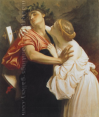 Lord Frederic Leighton, Orpheus and Eurydice, 1864, oil on canvas, 50 x 43 in. / 127 x 109.2 cm, US$640
