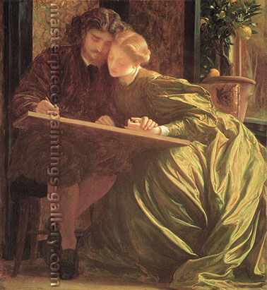 Lord Frederic Leighton, The Painter's Honeymoon, 1864, oil on canvas, 33 x 30.2 in. / 83.8 x 76.8 cm, US$420