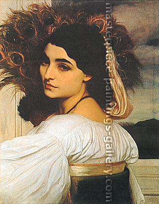 Lord Frederic Leighton, Pavonia, 1859, oil on canvas, 31.5 x 24.8 in. / 80 x 63 cm,US$420