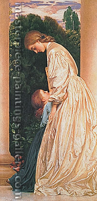 Lord Frederic Leighton, Sisters, 1862, oil on canvas, 30 x 15 in. / 76.2 x 38.1 cm, US$370