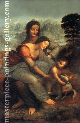 Madonna and Child with St. Anne, 1508-1518, oil on canvas, 32 x 24.8 in / 81.3 x 62.9 cm, US$320
