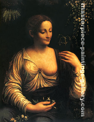 Flora the Roman goddess of Flowers, 1517-1521, oil on canvas, 30 x 24.8 in / 76.2 x 63 cm, US$300