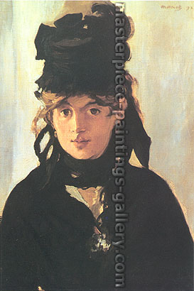 Edouard Manet, Portrait of Berthe Morisot in a Black Hat, with Violets, 1872, oil on canvas, 21.7 x 15 in. / 55 x 38 cm, US$300