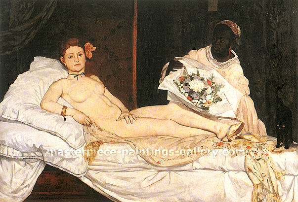 Edouard Manet, Olympia, 1863, oil on canvas, 41.1 x 59.8 in. / 104.4 x 152 cm, US$650