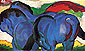 The Little Blue Horses, 1911, oil on canvas, 24 x 39.8 in / 61 x 101 cm, US$390