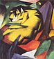 Franz Marc, The Tiger, 1912, oil on canvas, 32 x 32.1 in / 81.3 x 81.6 cm, US$320