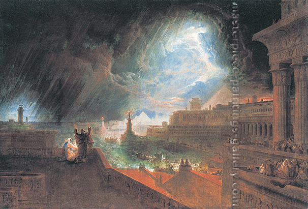 John Martin, Seventh Plague of Egypt, 1823, oil on canvas, 35.7 x 53 in. / 90.8 x 135 cm, US$980